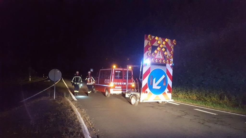 Schwerer Verkehrsunfall Nachts Auf Der A66